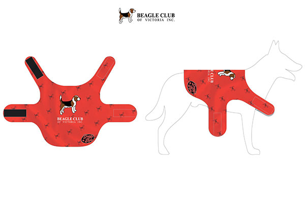 Beagle club dog jacket diagram